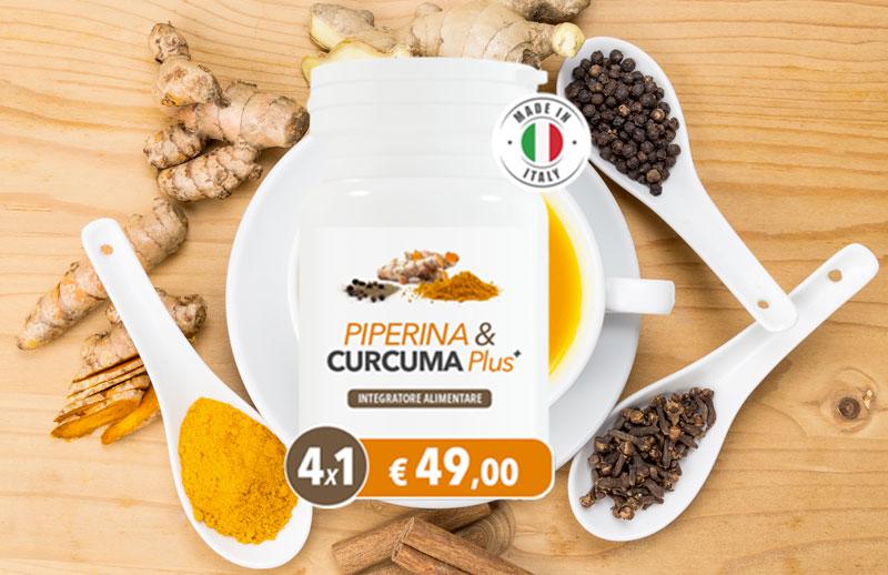 Piperina e Curcuma Plus