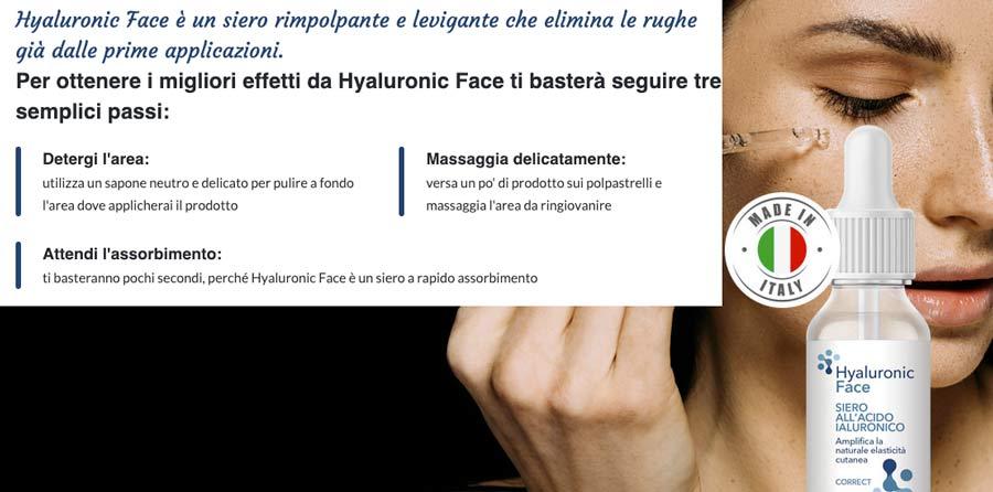 Come funziona Hyaluronic Face