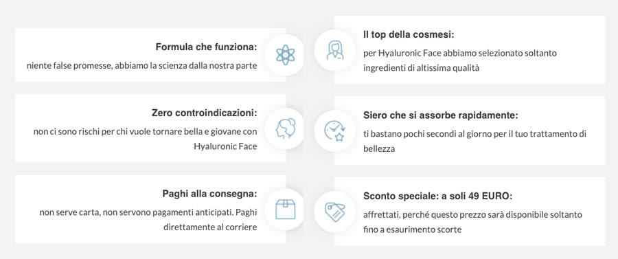 Caratteristiche di Hyaluronic Face