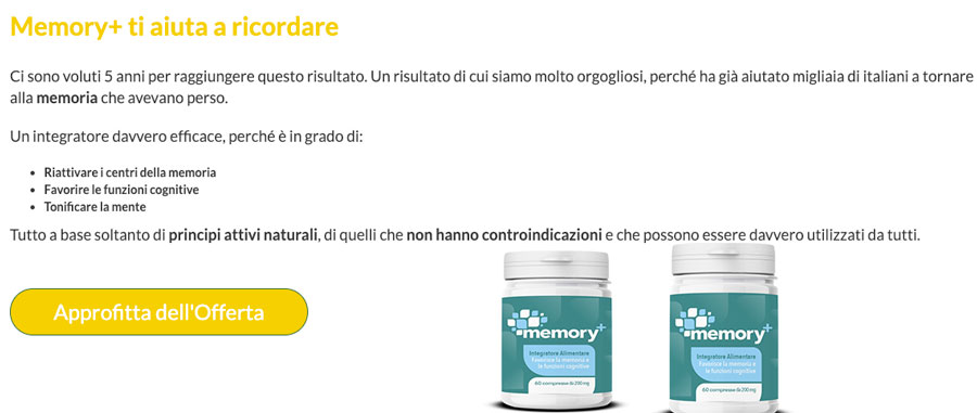 Come agisce Memory Plus
