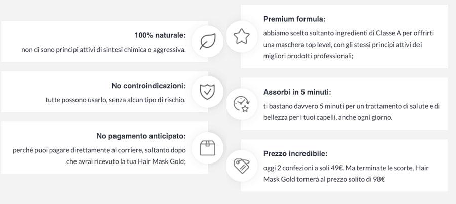 Maschera oro Hair Gold Mask