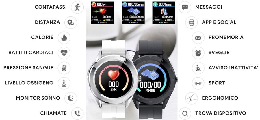 Funzioni dello smartwatch C10 Xpower