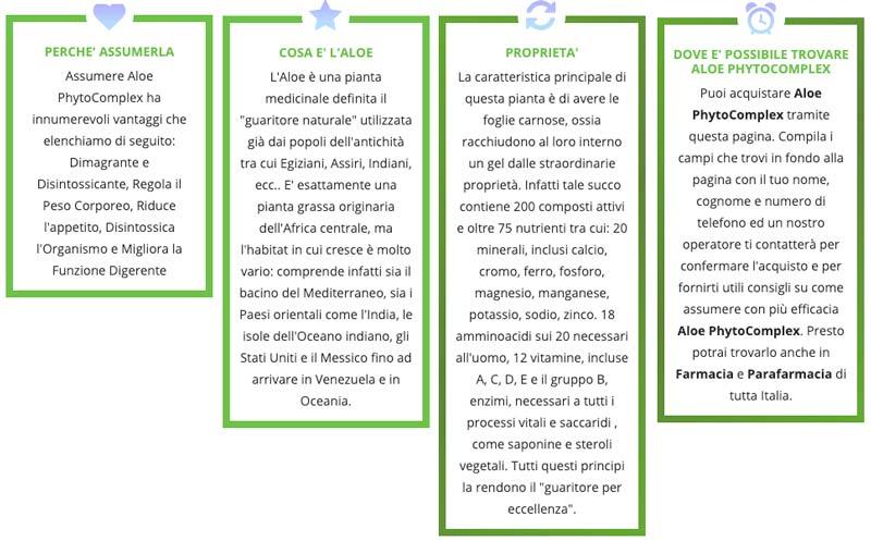 Caratteristiche di Aloe Phytocomplex