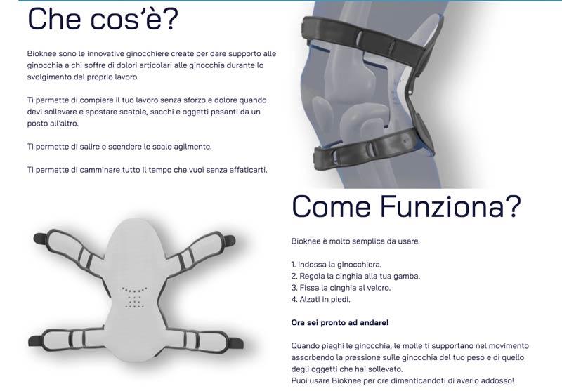come funziona la ginocchiera BioKnee
