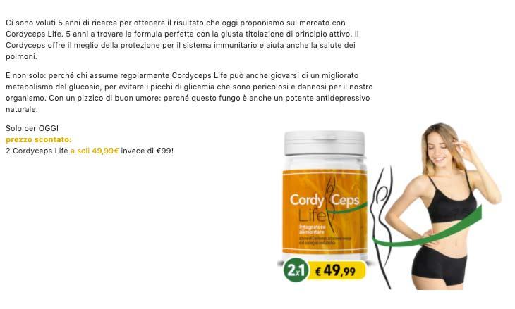 Funzionamento di Cordyceps Life