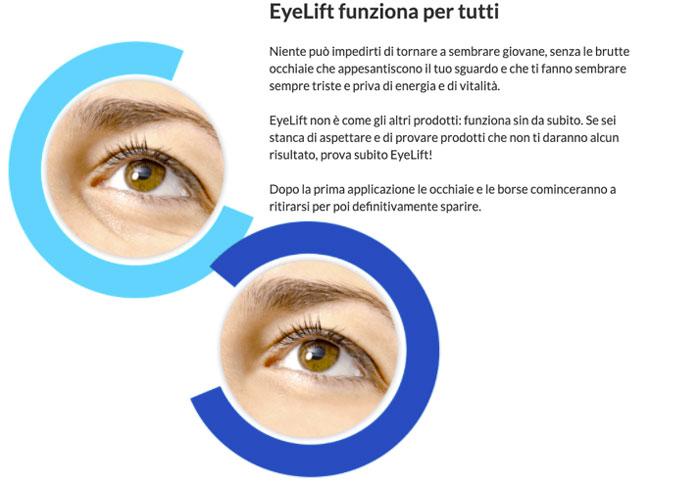 Come funziona la crema Eyelift