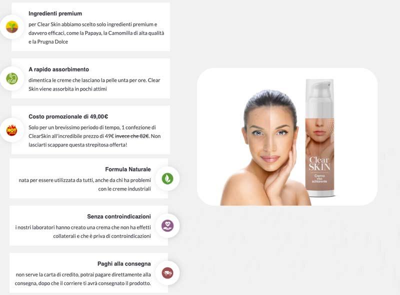 Caratteristiche su Clear Skin